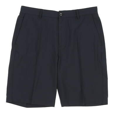 New Mens Dunning Players Fit Solid 4-Way Stretch Woven Shorts Size 35 Navy Blue (Halo) MSRP $80 D7S13H055