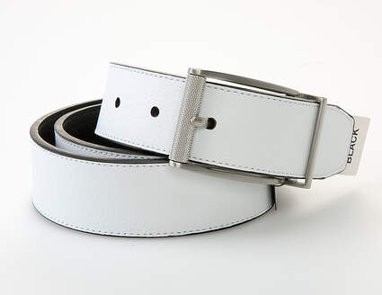 New Mens Nike Classic Reversible Belt Mens 34 Leather Black and White MSRP $45