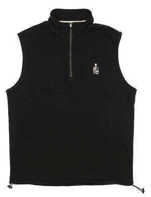 New W/ Logo Mens Dunning Golf Natural Hand Vest Large L Black MSRP $79 D7S17V913