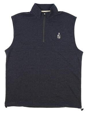 New W/ Logo Mens Dunning Golf Natural Hand Vest Large L Navy Blue (Halo Heather) MSRP $79 D7S17V913