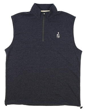 New W/ Logo Mens Dunning Golf Natural Hand Vest Small S Navy Blue (Halo Heather) MSRP $79 D7S17V913