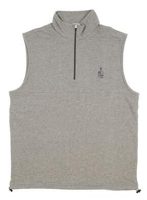 New W/ Logo Mens Dunning Golf Natural Hand Vest Large L Mid Gray Heather MSRP $79 D7S17V913