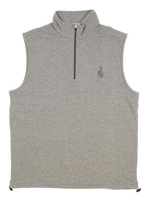New W/ Logo Mens Dunning Golf Natural Hand Vest Small S Mid Gray Heather MSRP $79 D7S17V913