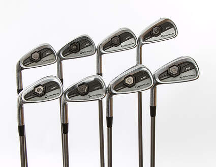 TaylorMade 2011 Tour Preferred MC Iron Set 3-PW Aerotech SteelFiber i110cw Graphite Stiff Left Handed 38 in