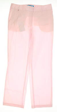 New Womens Lizzie Driver Rise Again Golf Pants Size 8 Pink MSRP $140 13111