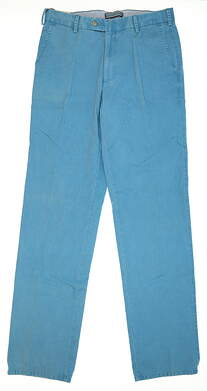 New Mens Peter Millar Raleigh Washed Twill Golf Pants Size 32 Ocean MSRP $100 MS16B84