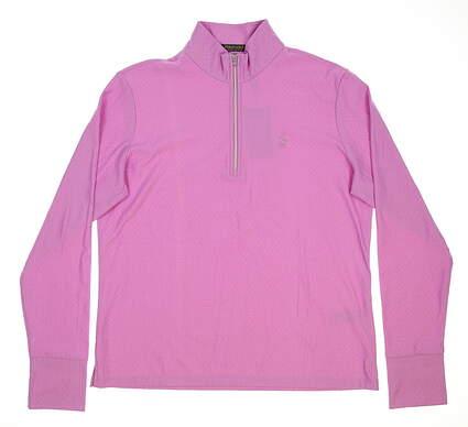 New Womens Ralph Lauren 1/2 Zip Golf Pullover Large L Purple MSRP $150