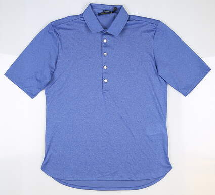 New Womens Ralph Lauren Classic Fit Heathered Golf Polo Small S Blue MSRP $89.50