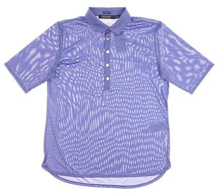 New Womens Ralph Lauren Classic Fit Heathered Golf Polo Medium M Blue MSRP $89.50