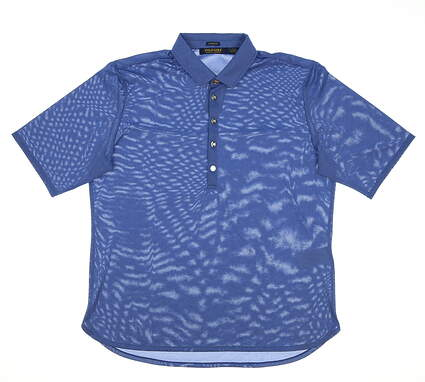 New Womens Ralph Lauren Heathered Golf Polo Large L Blue MSRP $95