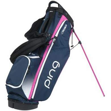 New Ping 4 Series Stand Bag Navy/White/Pink