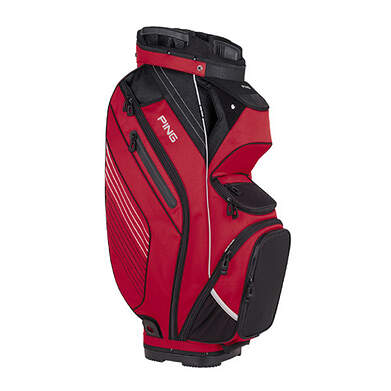 New Ping Pioneer Cart Bag Red/Black/Light Gray