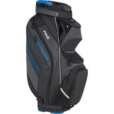 New Ping Pioneer Cart Bag Charcoal/Birdie Blue/White