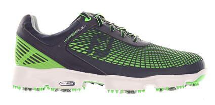 New Mens Golf Shoe Footjoy Hyperflex Medium 10.5 Black/Green MSRP $200