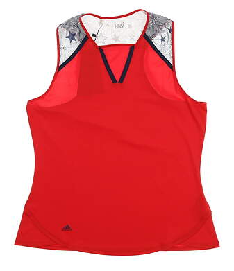 New Womens Adidas Tank Top Large L Red MSRP $65 AF2682