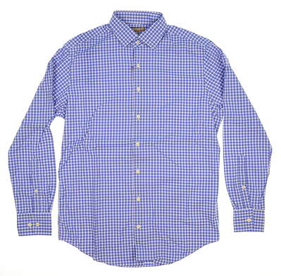 New W/ Logo Mens Peter Millar Button Up Small S Blue Heaven MSRP $125 MF15EW10