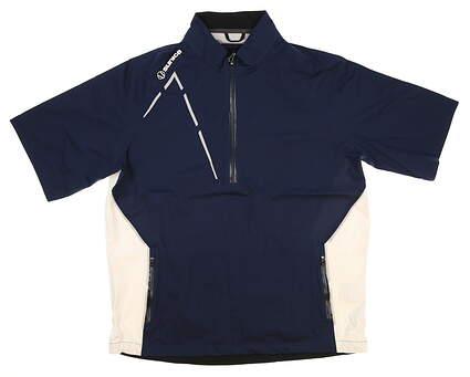 New Mens SUNICE Sullivan Zephal Short Sleeve Rain Jacket Large L Midnight MSRP $165 S42007