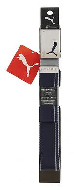 New Mens Puma Reversible Web Belt One Size Peacoat/Quarry MSRP $20
