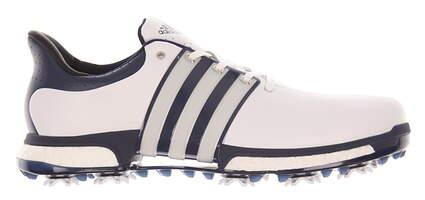 New Mens Golf Shoe Adidas Tour 360 Boost Medium 8.5 White/Blue MSRP $200