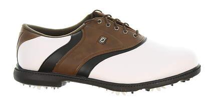 New Mens Golf Shoe Footjoy FJ Originals Wide 11.5 White/Brown MSRP $80