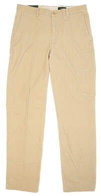 New Mens Bobby Jones Golf Pants Size 33 Sand MSRP $130 BJK50002