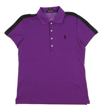 New Womens Ralph Lauren Golf Polo Medium M Purple/Black MSRP $89
