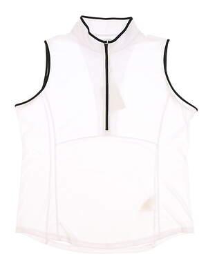 New Womens Footjoy 1/2 Zip Golf Shirt X-Large XL White MSRP $65 22924