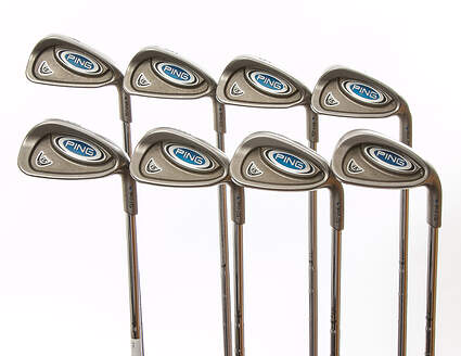 Ping i5 Iron Set 4-PW GW True Temper Steel Stiff Right Handed Blue Dot 37.75 in