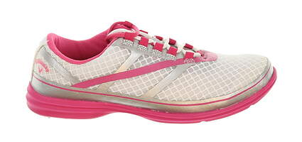 New Womens Golf Shoe Callaway Solaire SE Medium 6.5 White/Pink MSRP $100