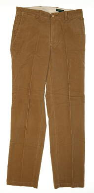 New Mens Bobby Jones Golf Pants Size 36 Khaki MSRP $130 BJK50002