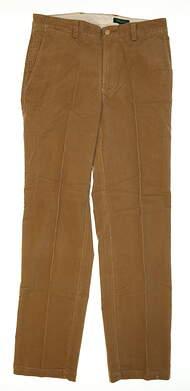 New Mens Bobby Jones Golf Pants Size 33 Khaki MSRP $130