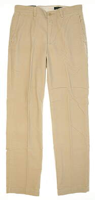 New Mens Bobby Jones Golf Pants Size 32 Sand MSRP $130 BJK50002