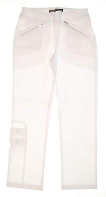 New Womens Jamie Sadock Skinnyliscious Fit Golf Pants Size 6 White MSRP $120 41318