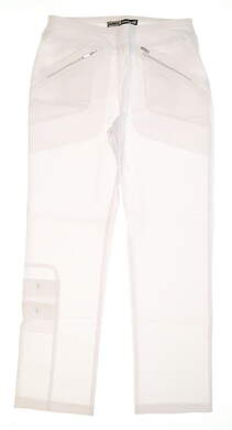 New Womens Jamie Sadock Skinnyliscious Fit Golf Pants Size 0 White MSRP $120 41318