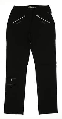 New Womens Jamie Sadock Skinnyliscious Fit Golf Pants Size 6 Black MSRP $120 41318