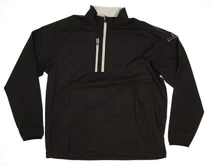 New Mens Puma 1/2 Zip Wind Jacket Large L Black MSRP $70 570473