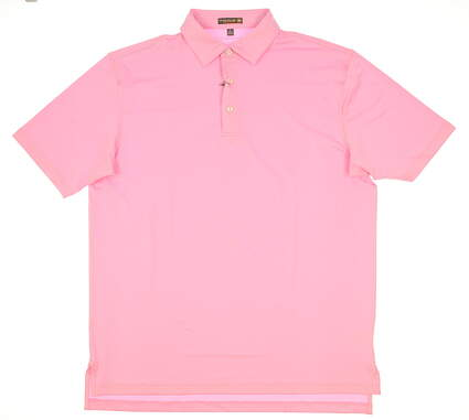 New Mens Peter Millar Solid Stretch Jersey Polo Large L Pink MSRP $79 MS17EK01S