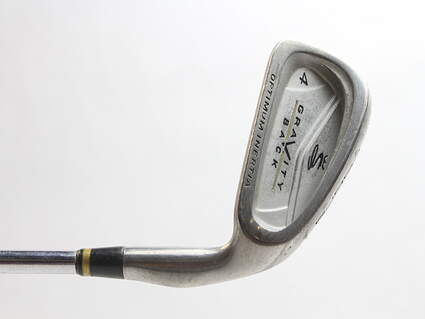 Cobra Gravity Back Single Iron 4 Iron Stock Steel Shaft Steel Stiff Right Handed 38.5 in