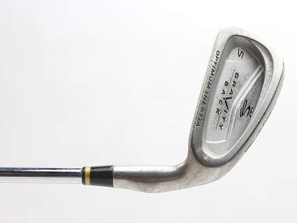 Cobra Gravity Back Single Iron 5 Iron Stock Steel Shaft Steel Stiff Right Handed 38 in