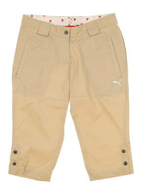 New Womens Puma Golf Capris Size X-Small XS Safari Beige MSRP $70