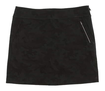 New Womens Ralph Lauren Camo Jacquard Golf Skort Size 6 Black MSRP $145
