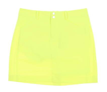 New Womens Ralph Lauren Golf Skort Size 10 Neon Yellow MSRP $125