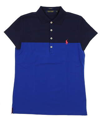 New Womens Ralph Lauren Tailored Fit Golf Polo X-Small XS Multi MSRP $90