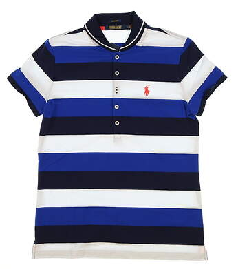 New Womens Ralph Lauren Tailored Fit Golf Polo Small S Multi MSRP $89.50