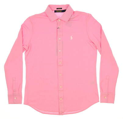 New Womens Ralph Lauren Tailored Fit Button Up Small S Pink MSRP $125