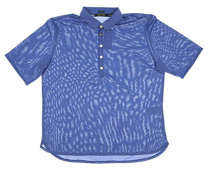 New Womens Ralph Lauren Classic Fit Heathered Golf Polo X-Large XL Blue MSRP $89.50