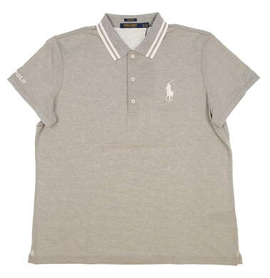 New Womens Ralph Lauren Tailored Fit Golf Polo X-Large XL Gray MSRP $98