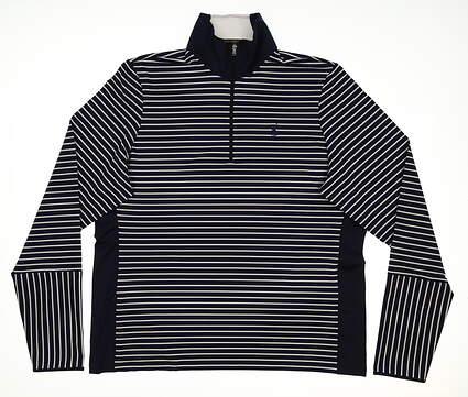 New Womens Ralph Lauren 1/2 Zip Golf Pullover X-Large XL Navy Blue MSRP $145
