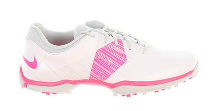 New Womens Golf Shoe Nike Delight V Medium 6 White/Pink MSRP $60