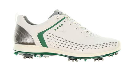 New Mens Golf Shoe Ecco BIOM G2 44 White/Pure Green MSRP $260